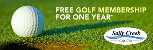 Free Golf Membership for One Year.